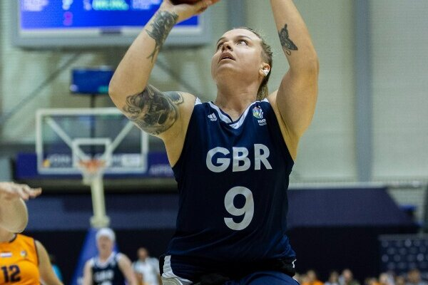 Jude Hamer British wheelchair basketball player competing by ©British Wheelchair Basketball.