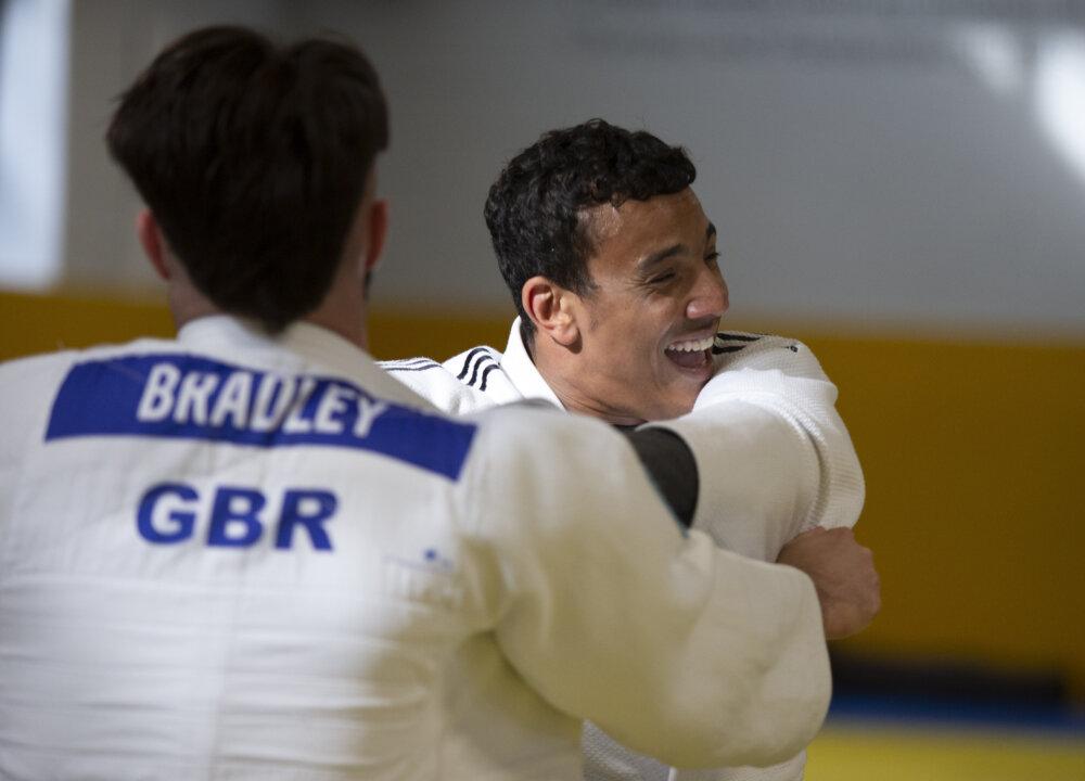 Elliot Stewart, British Paralympian judoka, competing by ©imagecomms