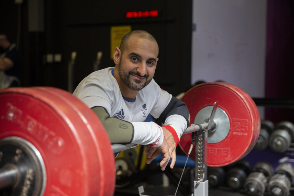 Ali Jawad, a British Paralympic powerlifter competing in the −59 kg class by ©ParalympicsGB