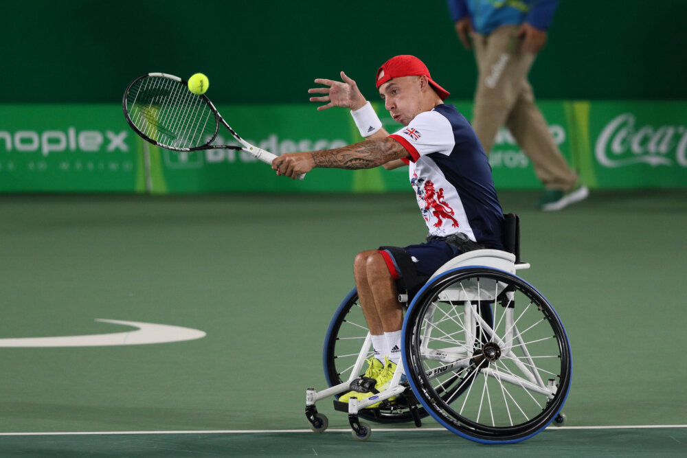 Andrew David Lapthorne, British wheelchair tennis player, competing by ©Paralympics GB