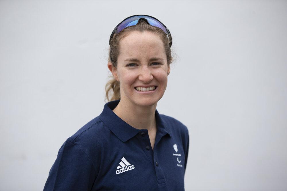 Claire Cashmore British, swimmer and triathlon medallist paralympian.