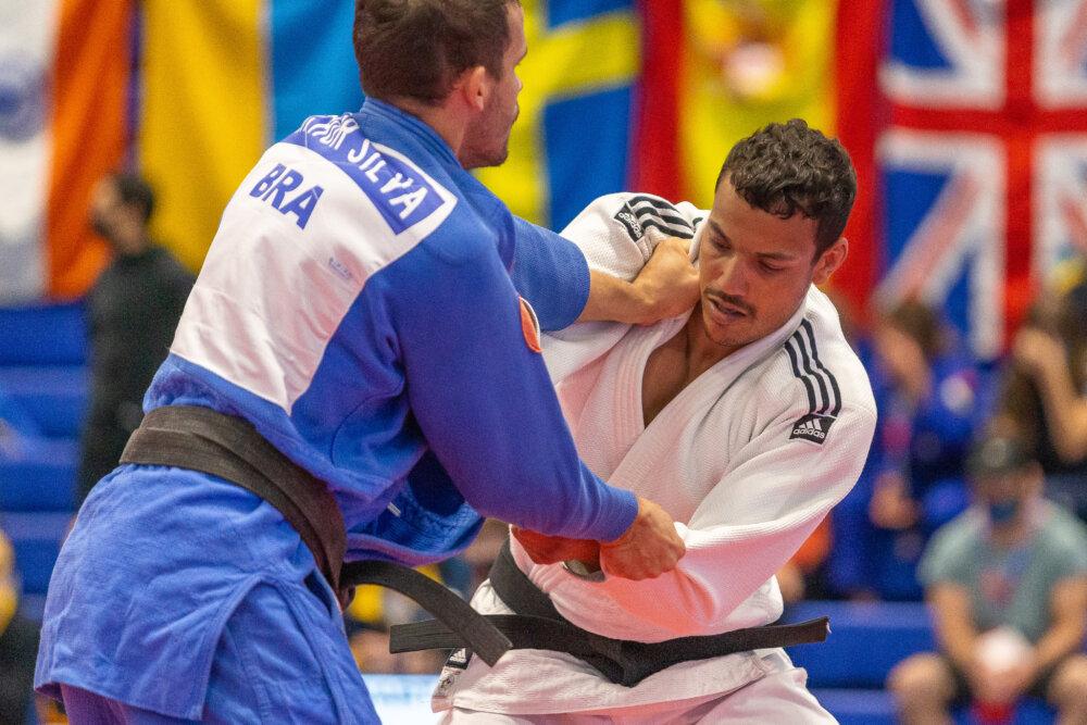 Elliot Stewart, British Paralympian judoka, competing by ©British Judo