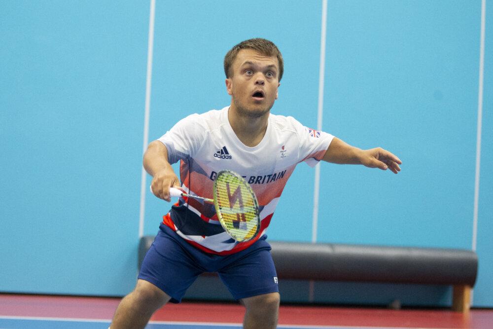 Jack Shephard, paralympian playing badminton by ©Imagecomms
