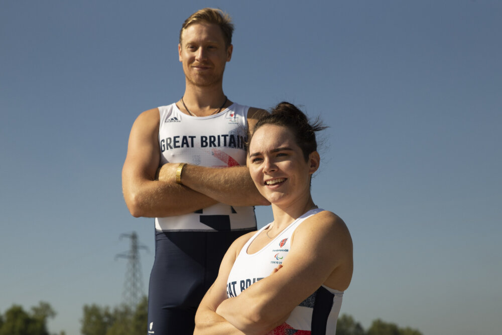 Portrait of the para rower team Lauren Rowles and Laurence Whiteley by ©Imagecomms