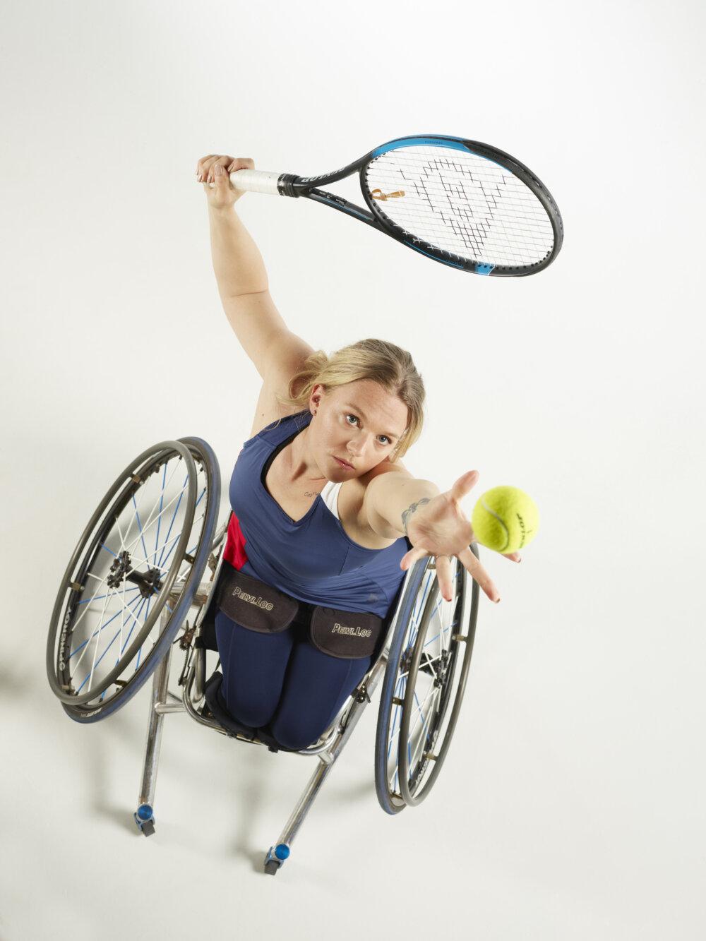 Jordanne Whiley, British wheelchair tennis player, portrair by ©Nathan Gallagher