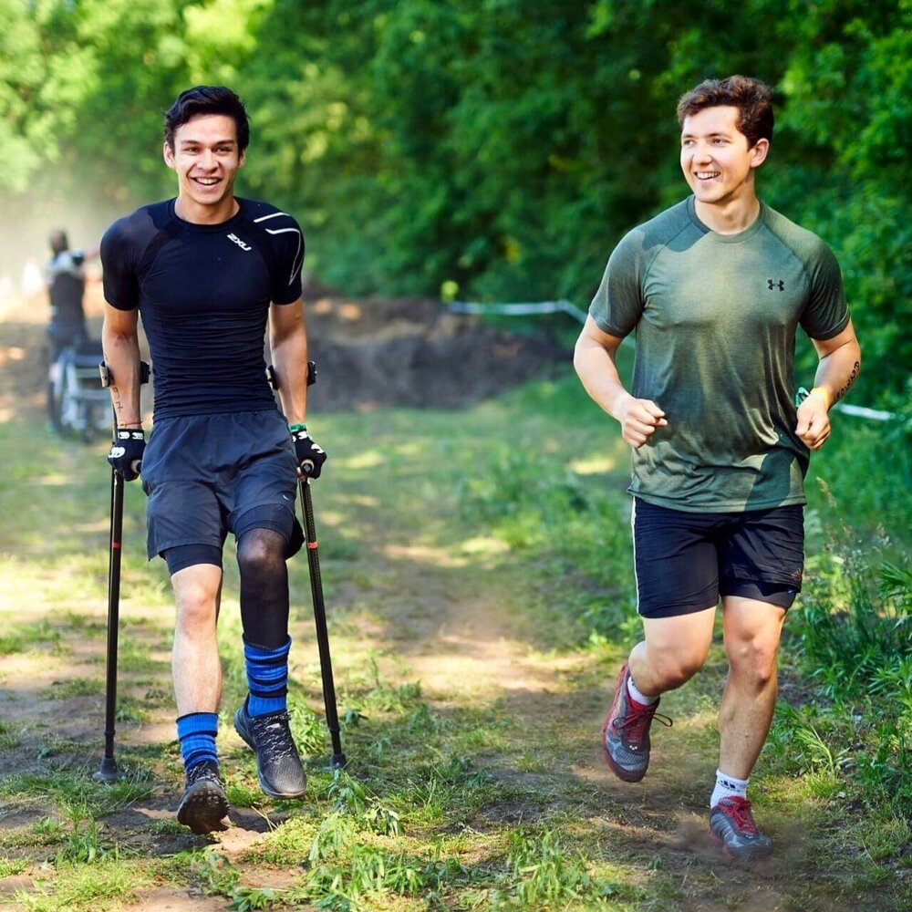 Oliver Lam-Watson wheelchair fenders and Josh Ritchie walking.