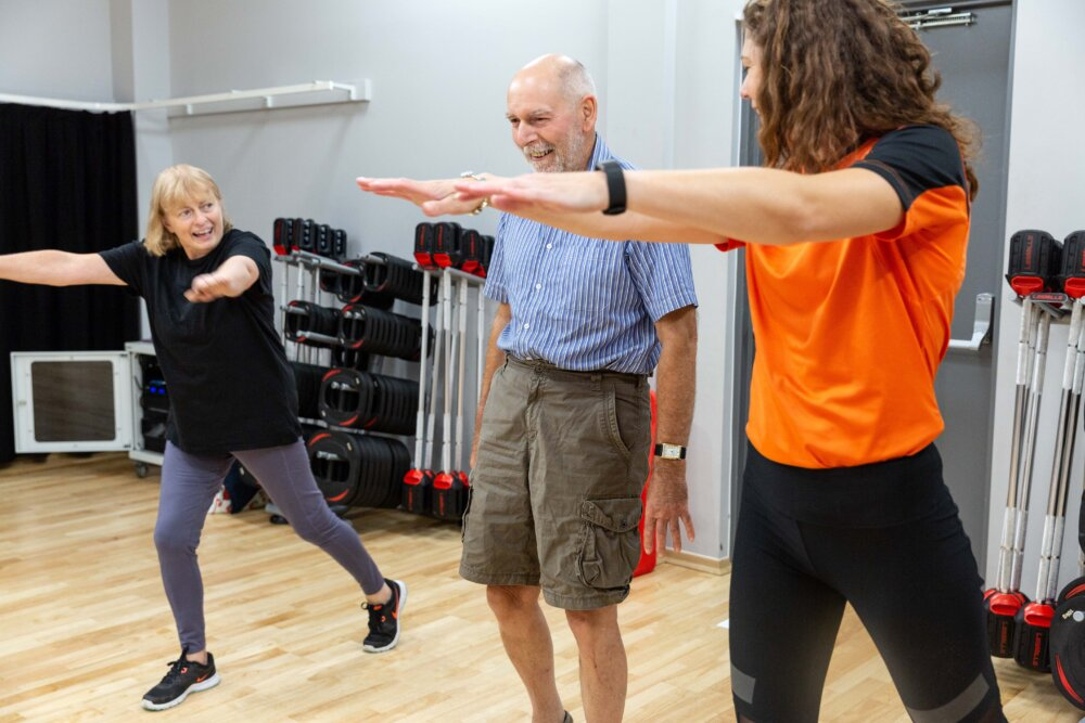 Maureen York (left) and her husband Steven take part in a Happy and Healthy class at the Great Sankey Neighbourhood Hub