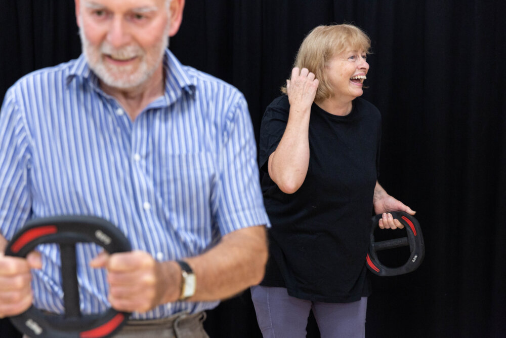 Steven and Maureen York take part in a Happy and Healthy class at the Great Sankey Neighbourhood Hub